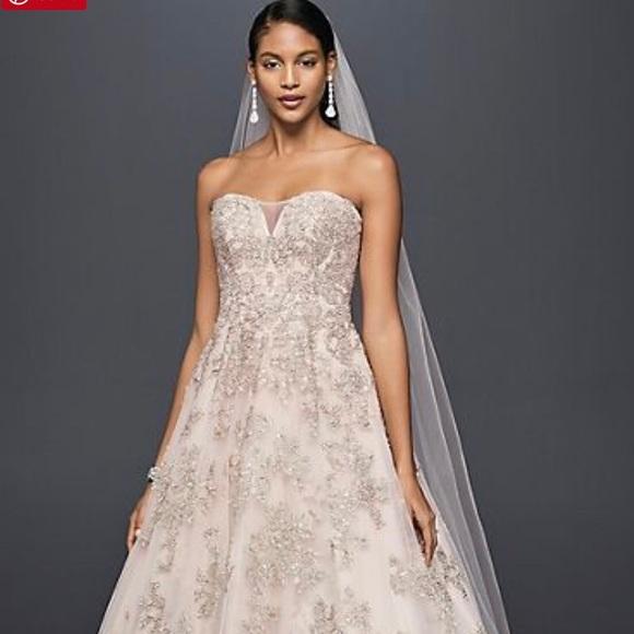 1c4476caeed56 David s Bridal Oleg Cassini Blush Wedding Gown. NWT